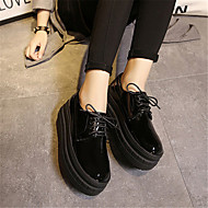 Women's Oxfords Spring Fall Creepers Leatherette Casual Platform Lace-up Black White Others