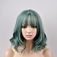 Europese en Amerikaanse vrouwen mode-peer hoofd bruin groen kort haar hoge temperatuur draad pruik