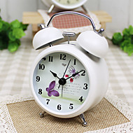 Alarm Clock with Matel Case Mini Size Silent Movment Night Light