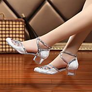 レディース-ダンスシューズ(ブラック / ブルー / ホワイト) -オーダーメイド不可-チャンキーヒール-ラテンダンス / ジャズダンス / ダンスブーツ