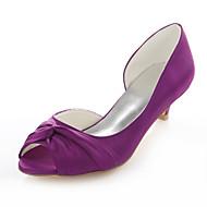Women's Heels Spring / Fall Others Stretch Satin Wedding / Party & Evening / Dress Kitten Heel Satin Flower Fuchsia Others