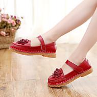 Djevojčice Ravne cipele Udobne cipele Brušena koža Kauzalni Udobne cipele Watermelon Crvena Do 2.5 cm