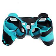 קייס מגן בשני צבעים מסיליקון לשלטים של PS3  (כחול ושחור)