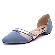 여성 샌들 컴포트 레더렛 여름 캐쥬얼 컴포트 플랫 블랙 밝은 그레이 핑크 밝은 블루 플랫