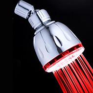 Contemporary Chrome  Round LED RGB Rain Shower Head - Silver