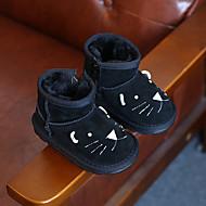 男の子 ブーツ コンフォートシューズ スノーブーツ レザー 冬 カジュアル コンフォートシューズ スノーブーツ ジッパー フラットヒール ブラック グレー キャメル フラット
