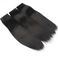100% emberi haj szalag hajhosszabbítás bőr vetülék egyenes haj 20db / csomag