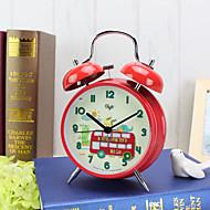 שעון מעורר עם מקרה matel בצבע אדום עם מנורת לילה