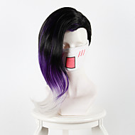 Watch The Pioneer Black Shadows Black Gradient Purple Long Hair Cosplay Animation Wig  Synthetic Wigs
