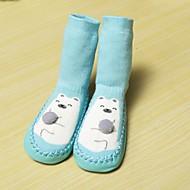 女の子用-カジュアル-コットン-スプールヒール-赤ちゃん用靴-フラット-ブルー イエロー レッド グレイ オレンジ