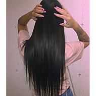 צפיפות ישר 120 פאות שיער אדם ישרות מול תחרה מלאה glueless פרואני בתולה אדם מלאת תחרת פאת שיער פלומת שיער