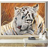 Cvijetan / Art Deco / 3D Pozadina Za kuću Suvremena Zidnih obloga , Canvas Materijal Ljepila potrebna Mural , Soba dekoracija ili zaštita