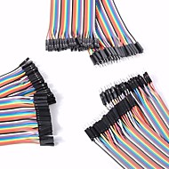 universal masculino para masculino / macho para a fêmea / fêmea para cabos DuPont femininos estabelecidos para arduino