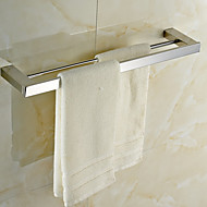 "Towel Bar Stainless Steel Wall Mounted 605 x 120 x 30mm (23.82 x 4.74 x 1.18"") Stainless Steel Contemporary"