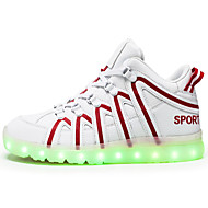 LED Light Up Shoes,Unisex Athletic Shoes Spring Summer Fall Winter Comfort Novelty Microfibre Outdoor Casual Athletic Flat Heel Lace-up Hook & Loop