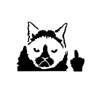 morsomt gretten katt bil klistremerke bilvinduet vegg klistremerke bil styling