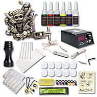 Beginner Tattoo Kit 1 Relief Tattoo Machine 6 Color Inks Tattoo Set Tattoo Power Supply