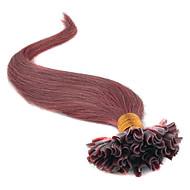 klasy 5a 1szt / dużo 20inch / 45cm ciemne kasztanowe (# 33) prosto fuzji / u wskazówka przedłużania włosów ludzkich włosów tka 0,5 g / s