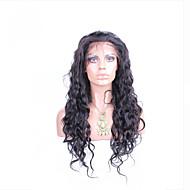 """10 """"-26"""" glueless csipke első paróka természetes hullám perui szűz hajszín természetes fekete baba haja fekete nők számára"""