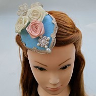Women's Lace Pearl Chiffon Fabric Headpiece-Wedding Special Occasion Fascinators Hats Hair Clip 1 Piece