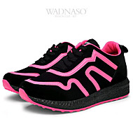 Women's Athletic Shoes Spring Summer Fall Winter Comfort Canvas Fleece Outdoor Casual Athletic Low Heel Lace-up Split Joint Pink White