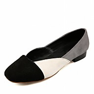 נשים-נעליים ללא שרוכים-עור פטנט דמוי עור-נוחות חדשני-שחור ורוד אדום-חתונה משרד ועבודה שמלה יומיומי מסיבה וערב-עקב שטוח
