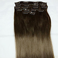 8pcs / set 24 inch # 4 remy soort human hair extensions haarverlenging human hair extensions