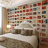 Art Deco Pozadina Za kuću Retro Zidnih obloga , Canvas Materijal Ljepila potrebna Mural , Soba dekoracija ili zaštita za zid