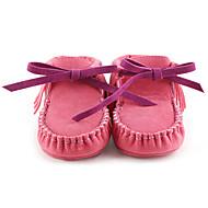 לבנות תינוק-נעליים ללא שרוכים-דמוי עור-צעדים ראשונים נעליים לעריסה-שחור ורוד חאקי אלמוג אבטיח עירום-קז'ואל
