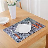 Carré Impression / Avec motifs / Nautique Sets de table , Coton mélangé Matériel Hôtel Dining Table / Tableau Dceoration