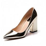 Femme-Bureau & Travail Habillé Décontracté-Or Argent-Gros Talon Block Heel-Confort-Chaussures à Talons-Similicuir
