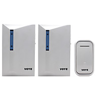 DC 100m  Wireless remote control Door Bell Range for Home Office 38 ringtones 1 transmitter2 receivers