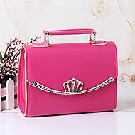 M.Plus® Women's Fashion Solid Korean PU Leather Messenger Shoulder Bag