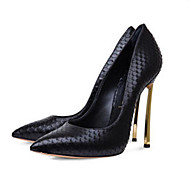 Women's Heels Spring Summer Fall Other Leatherette Office & Career Dress Casual Party & Evening Stiletto Heel Animal Print Black White
