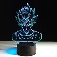 1pc zeven Dragon Ball kleurrijke visie stereo led lamp 3D-lamp licht kleurrijke gradient acryl lamp 's nachts licht vision (geen