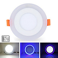 6W+3W 3Model LED Lamp Panel Light Double Color LED Ceiling Recessed Lights Indoor Lighting
