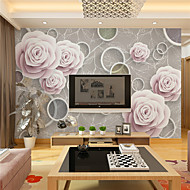 JAMMORY 3D Wallpaper For Home Contemporary Wall Covering Canvas Material Purple FlowerXL XXL XXXL