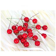 2cm 20db kis szimuláció gránátalma bogyók művirág piros karácsonyi cseresznye porzó lakodalom fesztivál dekoráció