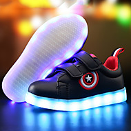 LED Light Up Shoes,Kids Boy Girls Spring / Fall / Winter Comfort Leather Outdoor / Light Up Sneakers / Casual Low Heel Luminous Shoes Black / White