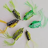 1 pcs Frog Hard Bait Fishing Lures Hard Bait Random Colors Hard Plastic Sea Fishing