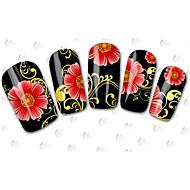 Мультипликация / Цветы / Милый - 3D наклейки на ногти - Пальцы рук / Пальцы ног - 15cm x 10cm x 5cm (5.91in x 3.94in x 1.97in) - 100PCS -