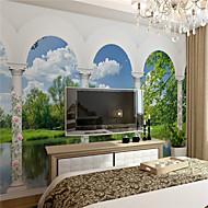 Art Deco Wallpaper Otthoni Kortárs Falburkolat , Vászon Anyag ragasztószükséglet Falfestmény , szoba Falburkoló