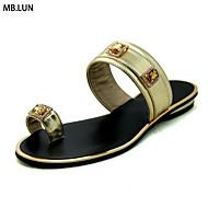 נשים-סנדלים-PU-נעלי בובה (מרי ג'יין)-כסוף זהב כחול נייבי כתום-שמלה קז'ואל-עקב נמוך