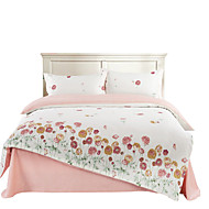 Mingjie 100% Cotton Red Flowers White Bedding Sets 4PCS for Twin Full QueenSize from China Contian 1 Duvet Cover 1 Flatsheet 2 Pillowcases