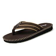 Men's Fashion Slippers & Flip-Flops Comfort Walking Shoes Casual Flat Heel Slip-on Black Brown Green EU39-43