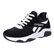 נשים-נעלי ספורט-סוויד-נוחות-שחור / סגול / אדום-קז'ואל-עקב שטוח