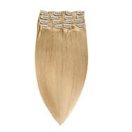 100% grampo de cabelo humano de Remy clips humanos cabelo grosso 70g 22inch 100g70g 22inch 100g extension14-20inch