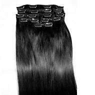 8kpl / set 24 # 1 Remy hiusten pidennykset hiusten pidennys tyyppi ihmisen hiusten pidennykset