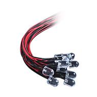 10mm LED světlo emitující dioda s řadou světla DC12V vlasy červená / bílá / modrá / žlutá / zelená (10 ks)