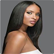 peruca cheia do laço brasileiro do cabelo humano yaki peruca reta virgem para mulheres afro-americanas